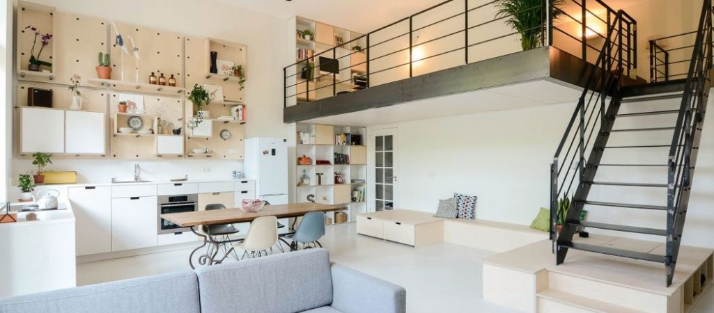 Old Dutch Classroom Transformed into Creative Family Home
