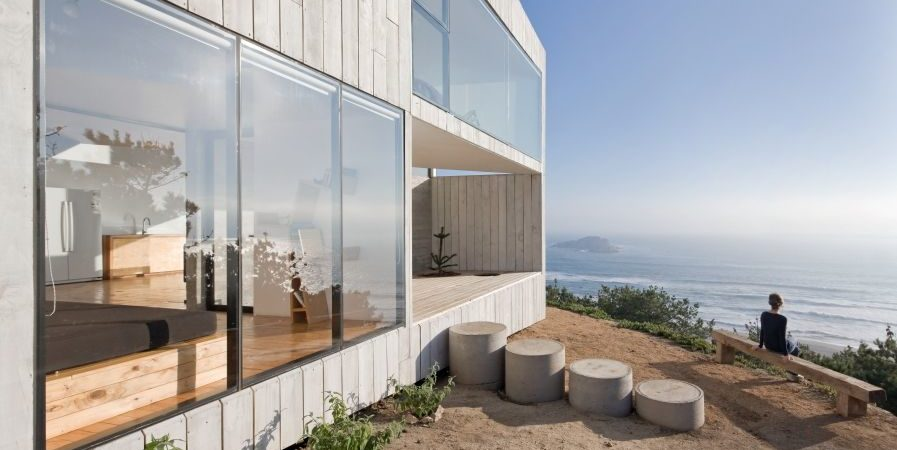 Cube-Shaped House in Chile Takes In Dramatic Sea Views