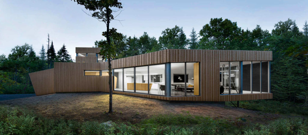 Sustainable Home Rooted in its Lac Grenier Setting