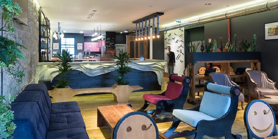 New Eclectic Hostel in Porto Encourages Travelers' Interaction