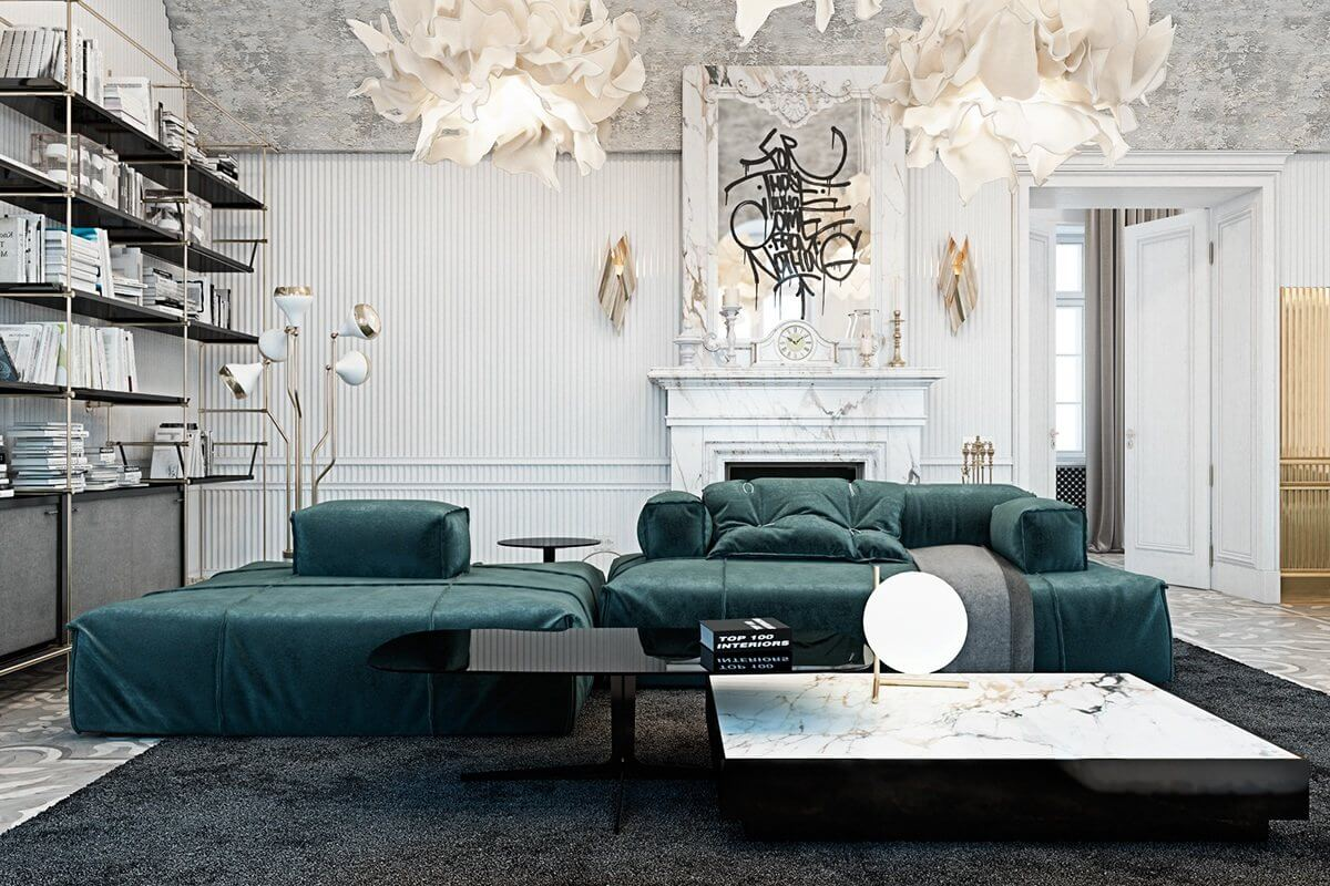 Ornate Home In Italy Contrasts Modern Pieces With Palatial