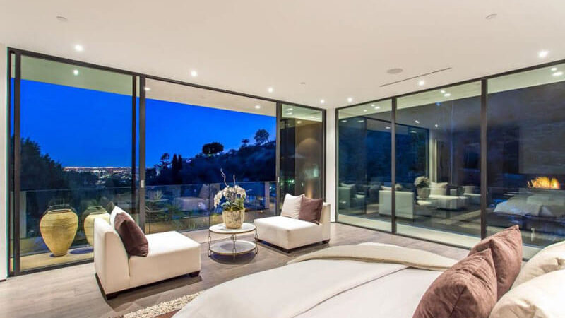 A Dreamy Master Bedroom in the Hollywood Hills
