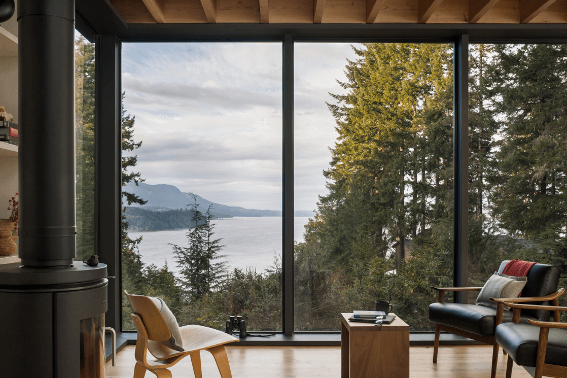 Modern sanctuary in the woods of washington state