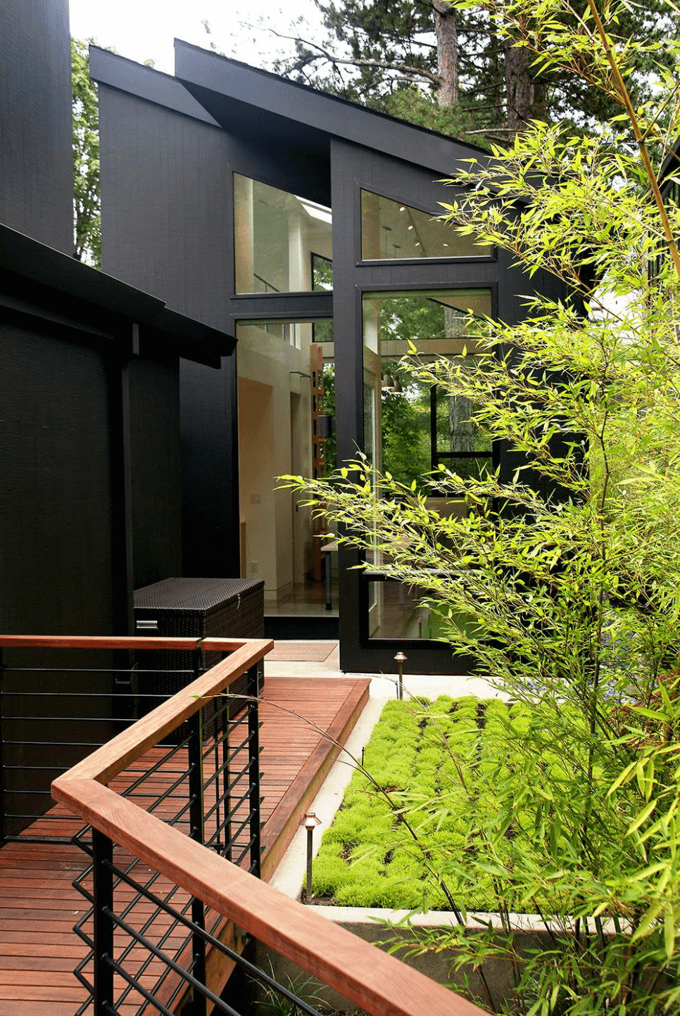 Collect this idea black exterior with angled roof