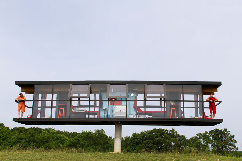 Modern House Spins And Tilts As Part Of Performance Architecture