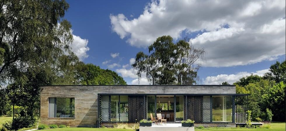 Contemporary Mobile Home in the UK's New Forest Woodland