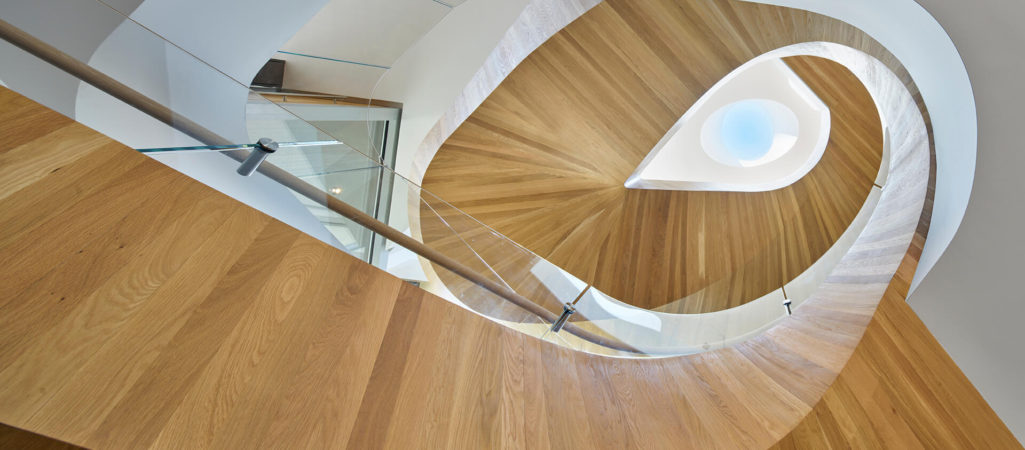 Helical Staircase Makes an Eccentric Centerpiece in this LA Family Home
