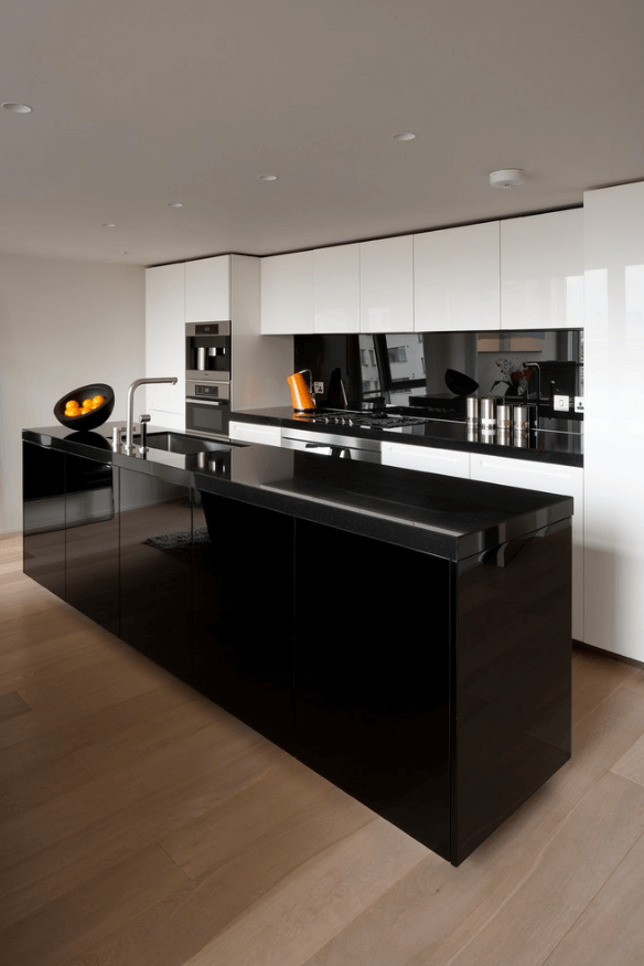 31 black kitchen ideas for the bold modern home freshome com rh freshome com modern kitchen cabinets design black and white