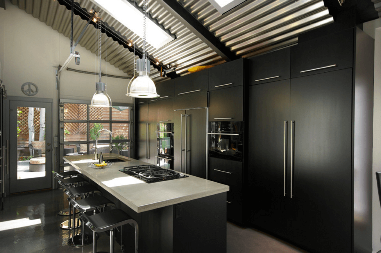 31 Black Kitchen Ideas for the Bold, Modern Home | Freshome.com on black drawers ideas, black kitchen cabinet doors, black kitchen ceiling ideas, black home ideas, black kitchen cabinet fronts, black and white kitchens, black kitchen color ideas, black kitchen faucet ideas, diy kitchen ideas, black kitchen remodeling ideas, black and stainless steel kitchen ideas, two tone kitchen cabinet ideas, black fencing ideas, black kitchen design ideas, black marble kitchen ideas, kitchen cabinet color ideas, painted kitchen cabinet ideas, do it yourself kitchen cabinet ideas, black glass ideas, small kitchen design ideas,