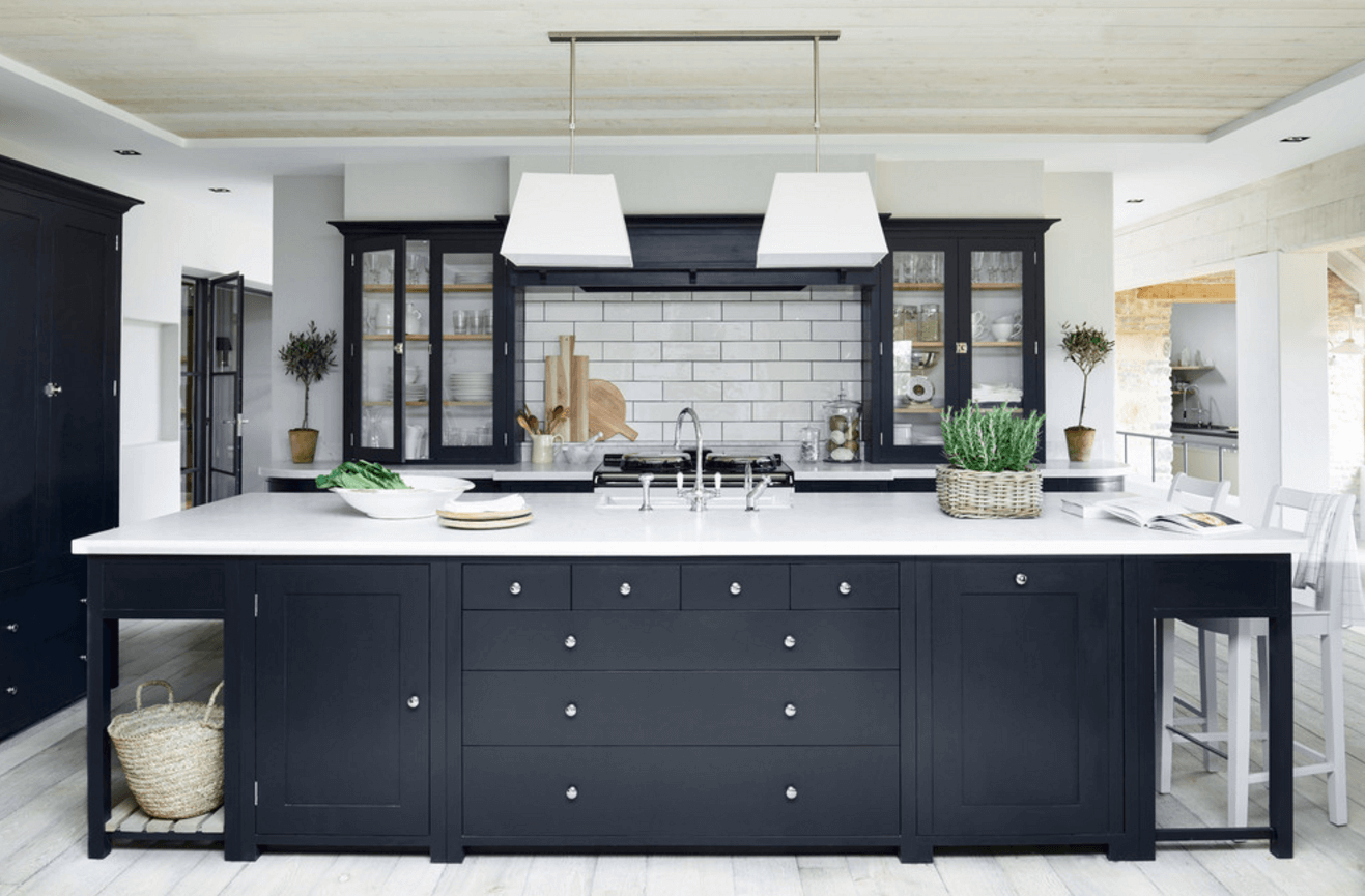 31 black kitchen ideas for the bold modern home freshome com rh freshome com black and white small kitchen design modern black and white kitchen designs
