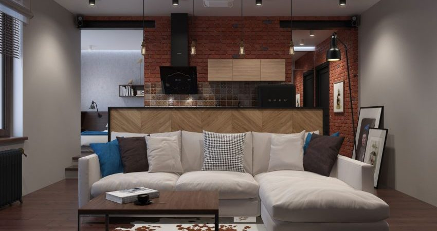 Bacheloru0027s Loft in Russia with Vintage Industrial Charm
