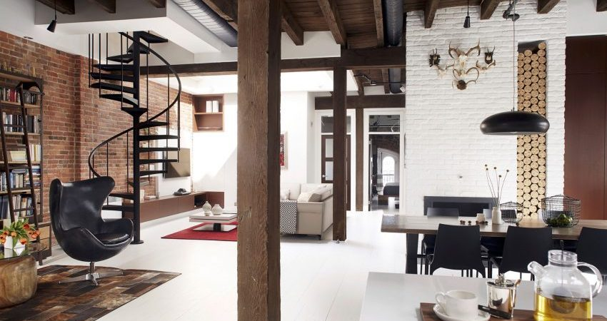 Loft Vieux-Montréal Infused with a Masculine Feel