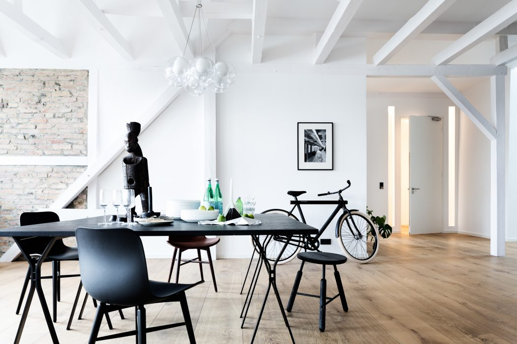 Industrial-Style Penthouse in Berlin Elevated by Works of Art ...