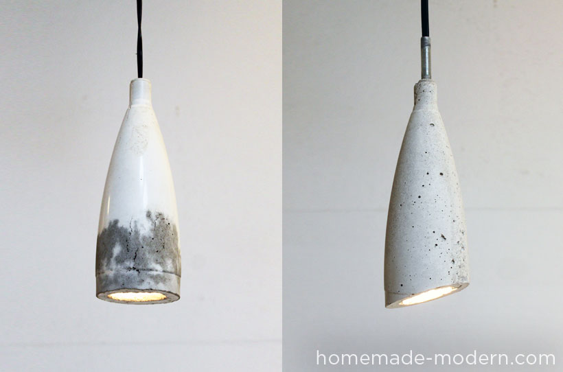 Concrete Pendant Lamp Option2