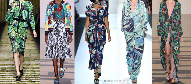 Tropical patterns for home from the runway - freshome.com