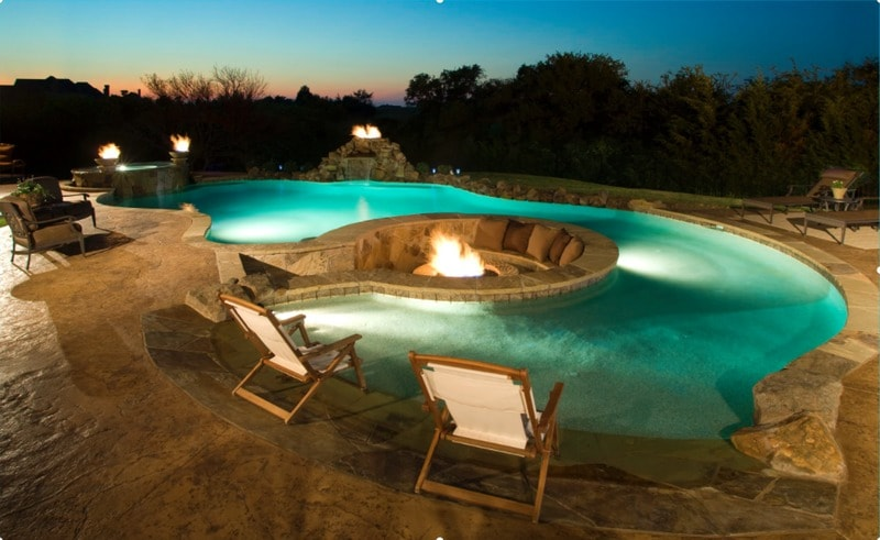 swimming pool with sunken fire pit - freshome.com