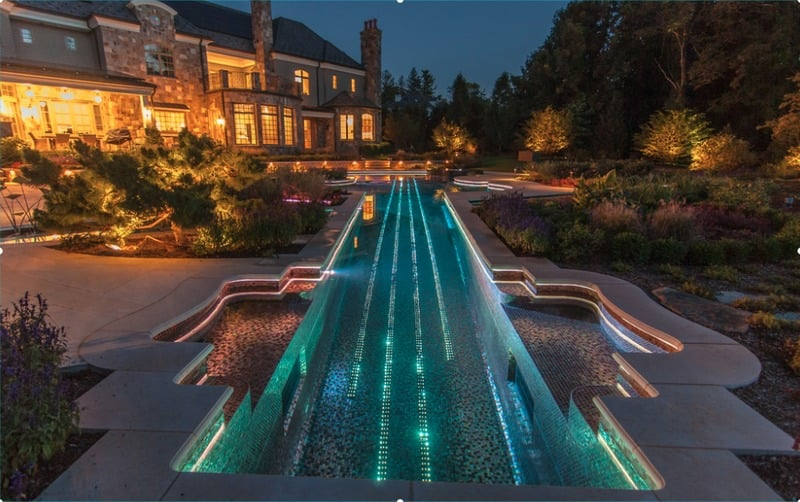 glass tile swimming pools and swimming pool lighting designs - freshome.com