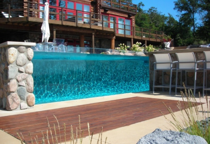 cool glass wall swimming pool ideas - freshome.com