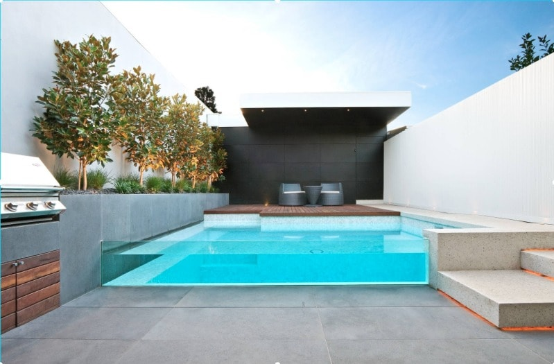 contemporary glass-wall swimming pool design ideas - freshome.com