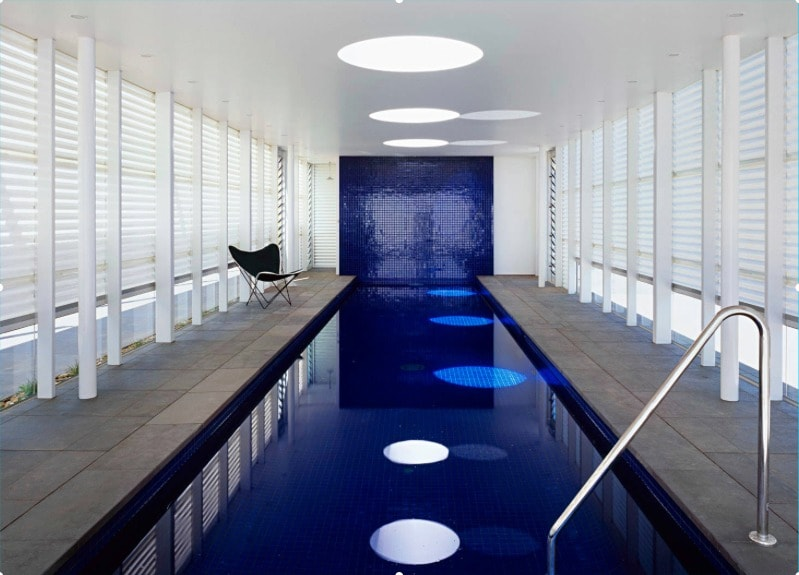 indoor swimming pool skylights and swimming pool glass tile ideas - freshome.com