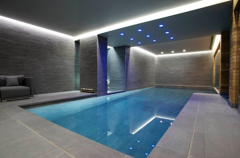 contemporary indoor swimming pool designs