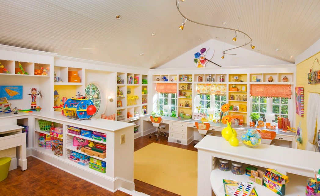 Playrooms need storage.