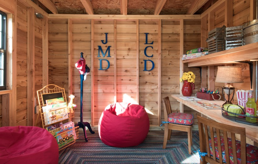 Rustic Modern Study Room For Kids