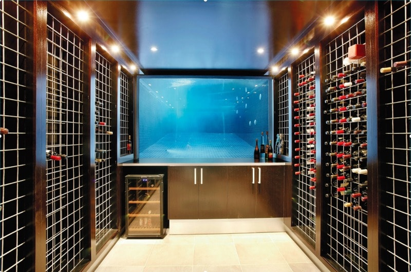 Wine cellar design ideas and underwater swimming pool glass walls - freshome.com
