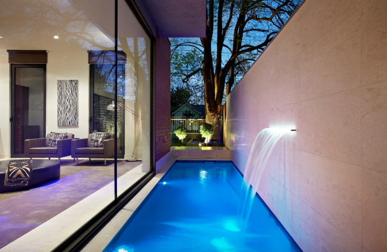 modern swimming pool waterfall designs - freshome.com