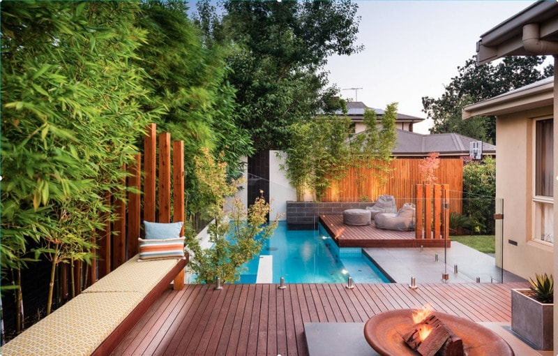 outdoor entertaining and a zen pool design - freshome.com