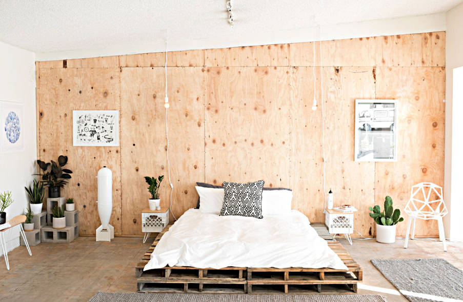 modern platform bed made from pallets - freshome.com