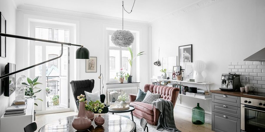 Welcoming Scandinavian Apartment Preserves Historic Charm