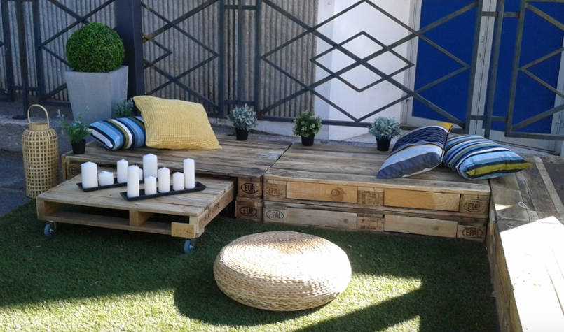 zen pallet furniture outside - freshome.com