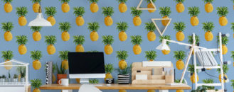 Late Summer Trend: 'Pineapple Fever' Wall Murals by Pixers
