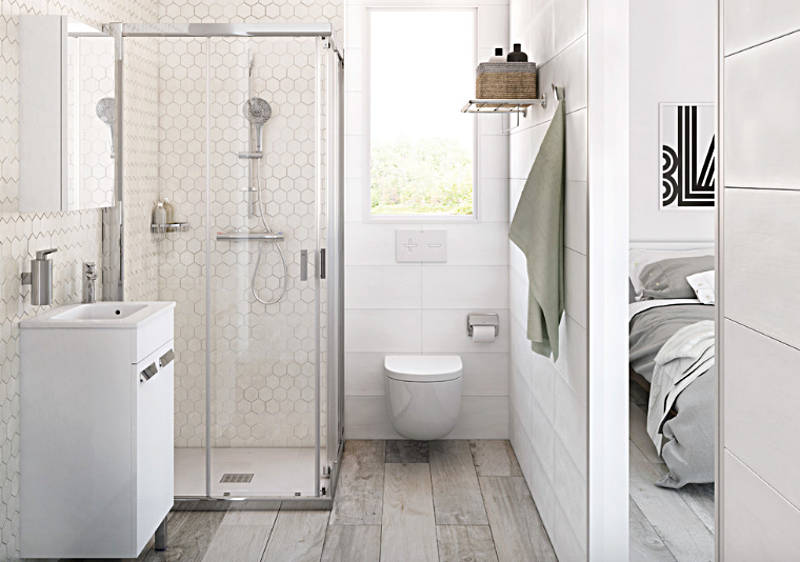 4 Add A Seamless Gl Shower Door To Your Small Bathroom