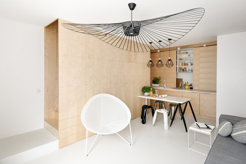 Small Duplex in Poland Unveils Ingenious, Functional Layout ...