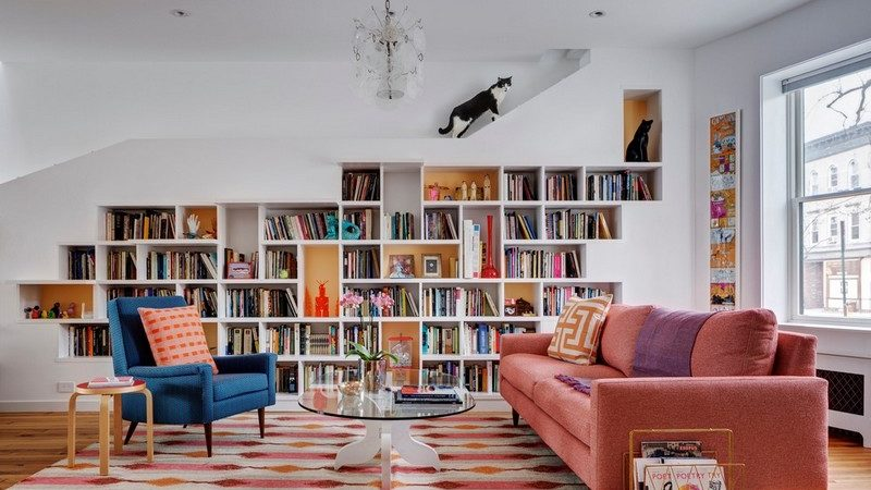 Energetic House for Book Lovers and Cats in Brooklyn, NY