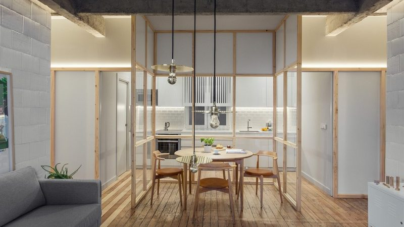 Glass Partitions Jazz Up Refurbished Bilbao Apartment