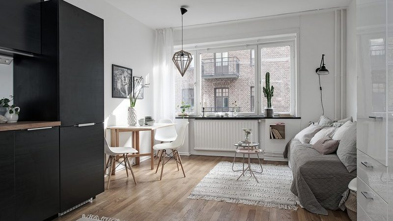 One-Room Apartment in Sweden Displays Function, Refinement