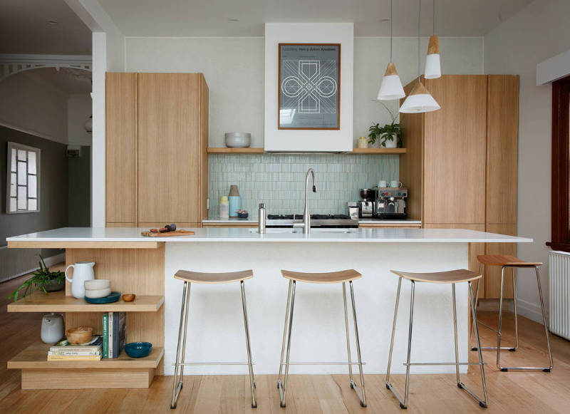 mid-century modern small kitchen design ideas - freshome.com
