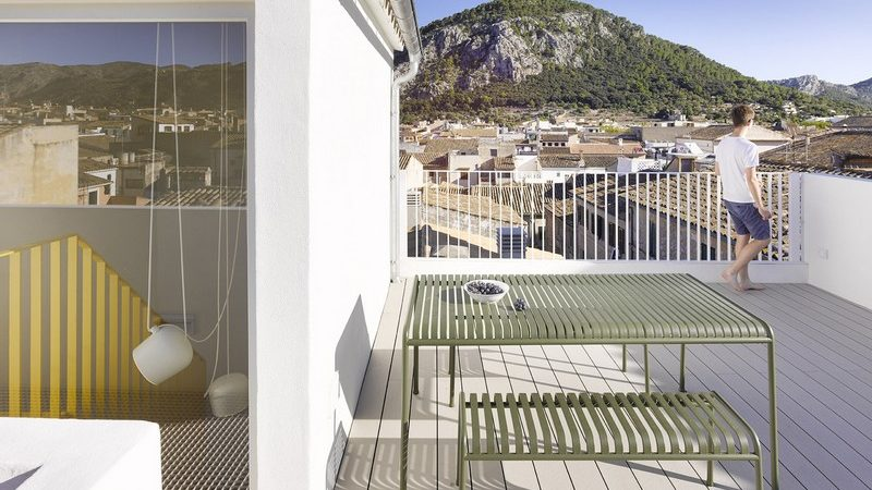 Four-Level Home in Mallorca Overlooks Small Medieval Town