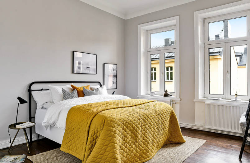 Yellow Bedding Freshome