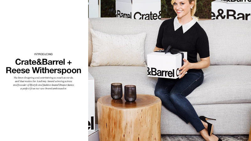 Reese Witherspoon Is Crate and Barrel's New Ambassador and You'll Love Her Tabletop Collection