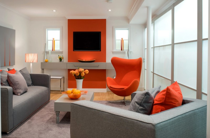 Grey And Orange >> How To Decorate With Orange To Stylishly Warm Up Any Room Freshome Com