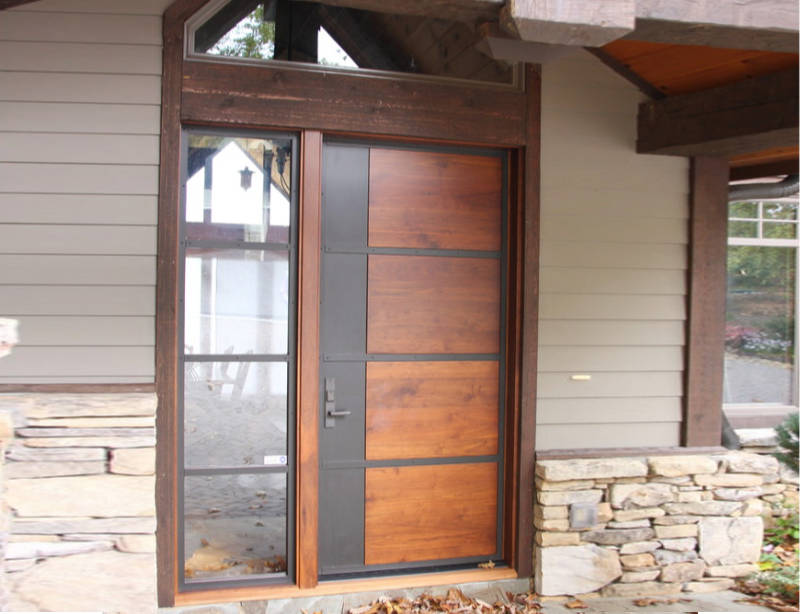 Craftsman Front Doors Freshome Wood And Steel