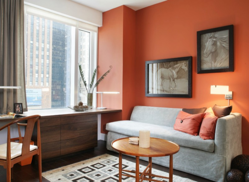 How To Paint A Room Orange Freshome