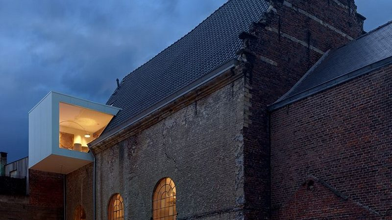 Historic Chapel in Belgium Converted into Architecture Office