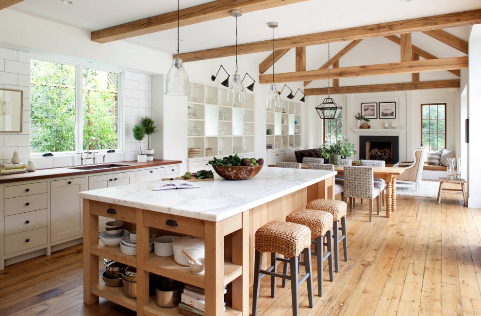 Practicality is the cornerstone of farmhouse style. Image Ken Linsteadt Architects : modern farmhouse interior design - zebratimes.com
