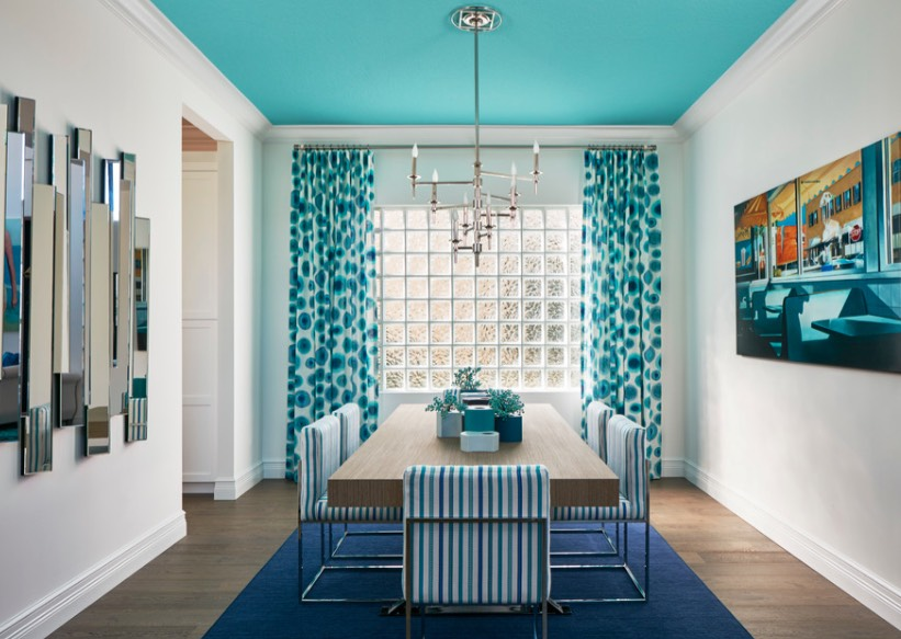 blue painted ceiling ideas - freshome.com
