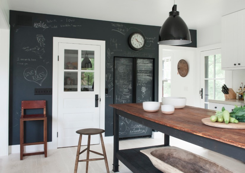 how to decorate with chalkboard paint - freshome.com